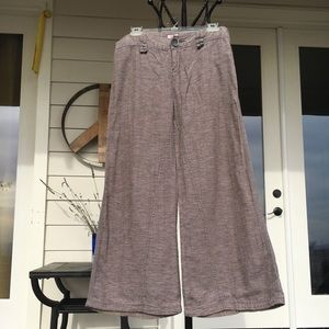 Rare Vintage Free People linen wide leg pants